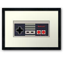 Nintendo NES Controller Sticker Framed Print