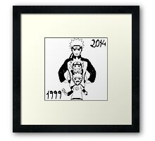 Naruto, 15 Years of history! Framed Print