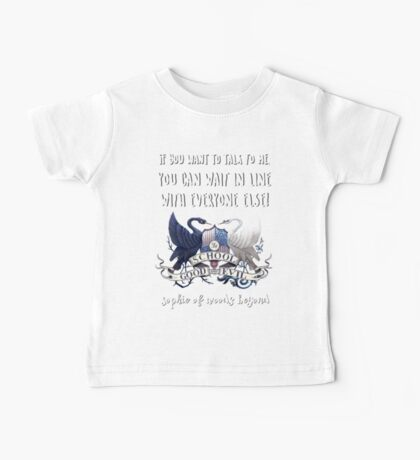 Sophie Of Woods Beyond Quote Baby Tee