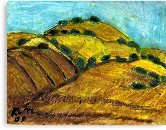 California Hills In Summer(Fields Of Gold) by RobynLee