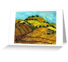 California Hills In Summer(Fields Of Gold) Greeting Card