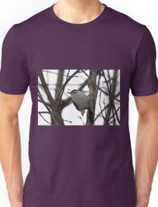 White Breasted Nuthatch Portrait Unisex T-Shirt
