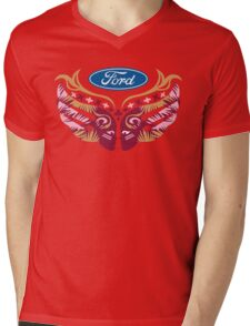 Cares Breast Cancer Mens V-Neck T-Shirt