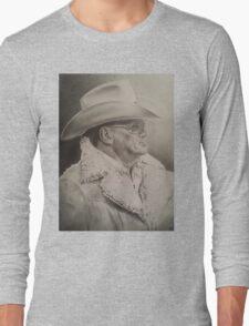 Bum Phillips Portrait Long Sleeve T-Shirt