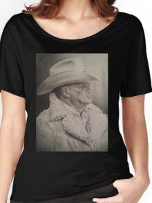 Bum Phillips Portrait Women's Relaxed Fit T-Shirt