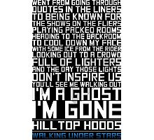 Hilltop Hoods - I'm A Ghost - White Photographic Print