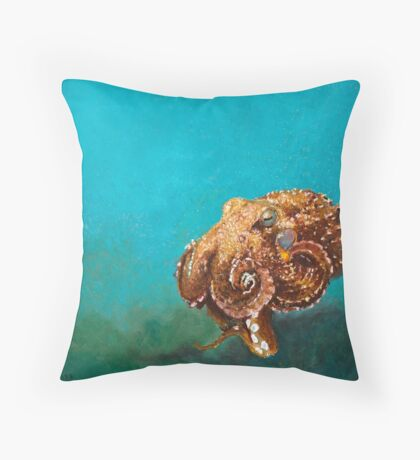 Giant Octopus Throw Pillow