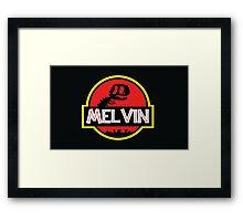 Jurassic Melvin Framed Print