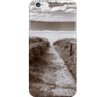 Beach track Polaroid film  iPhone Case/Skin