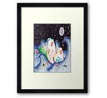 Underwater Dreams (twin size duvet) Framed Print