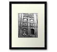 Streetart n Bricks Framed Print