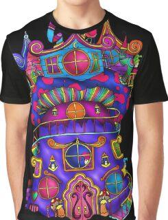 Mushroom Castle Graphic T-Shirt