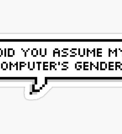 Assuming  Sticker