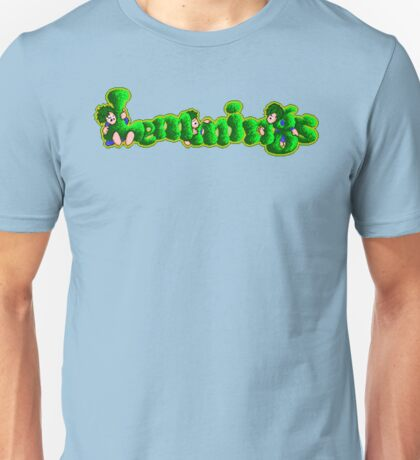 Lemmings (Genesis Title Screen) Unisex T-Shirt