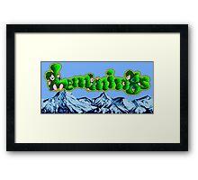 Lemmings (Genesis Title Screen) Framed Print