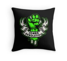 Zombie Revolution! -green- Throw Pillow