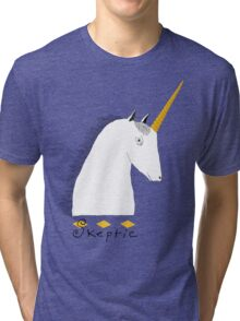 Skeptical Unicorn  Tri-blend T-Shirt