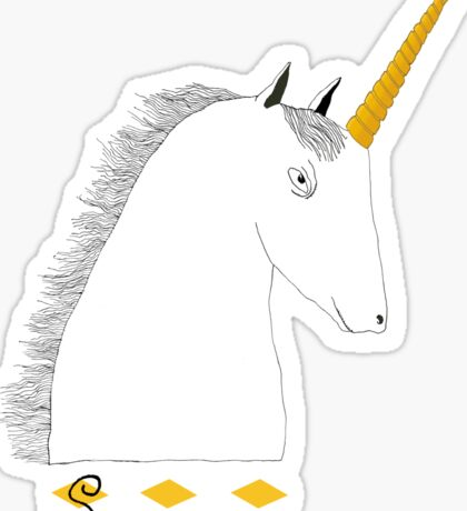 Skeptical Unicorn  Sticker