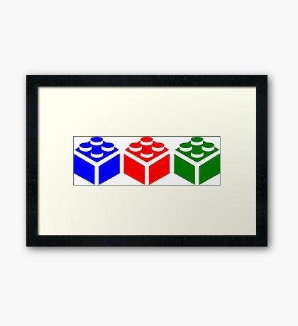Brick Tricolour Design Framed Print