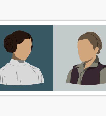 Leia Organa Double Bust Sticker