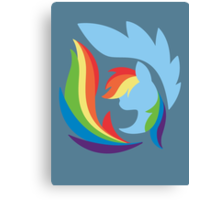 Emblem of Harmony - Rainbow Dash Canvas Print