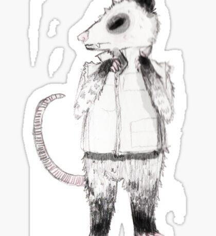 Punk possum Sticker