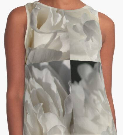 Hint of Red in a Luscious Sea of Petals Contrast Tank