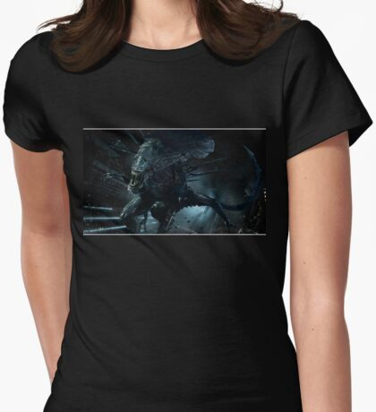 Alien Queen Xenomorph Womens Fitted T-Shirt