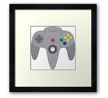 Nintendo 64 Controller Design Framed Print
