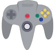 Nintendo 64 Controller Design Photographic Print