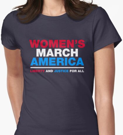 Women's March Womens Fitted T-Shirt
