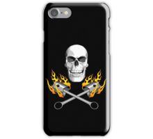 Flaming Mechanic Skull iPhone Case/Skin