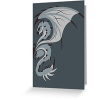Reign of Heavens - Silver Rathalos Greeting Card