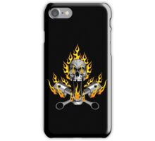 Flaming Mechanic Skull and Pistons iPhone Case/Skin