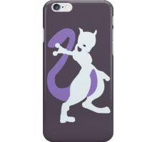 Smashing Mewtwo Vector iPhone Case/Skin