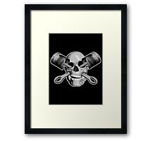 Mechanic Skull Framed Print