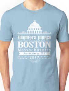 Boston Women's March for America 2017 Unisex T-Shirt