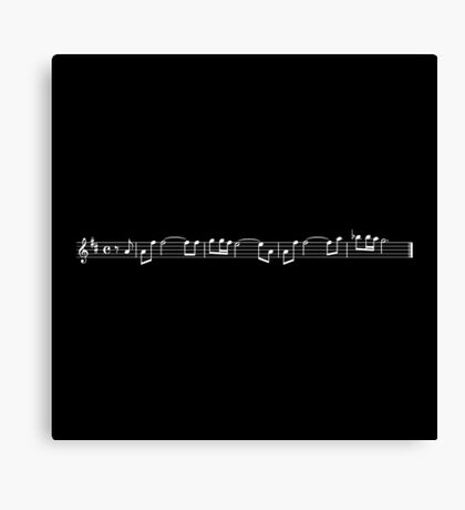 leia's theme (carrie fisher tribute) - black Canvas Print