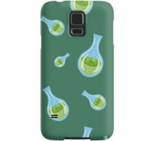 seamless pattern with flasks on a green background Samsung Galaxy Case/Skin