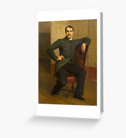 Emile Levy(French, 1826-1890)Portrait of Stephen Parker Greeting Card