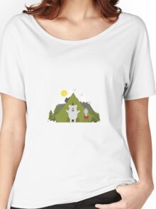 Polar Bear Camping Women's Relaxed Fit T-Shirt