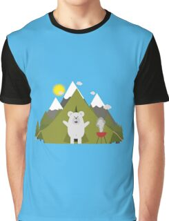 Polar Bear Camping Graphic T-Shirt