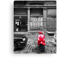 Red Vespa Canvas Print