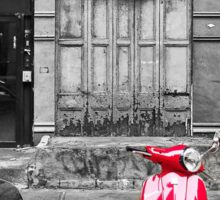 Red Vespa Sticker