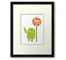 Android Lollipop Framed Print