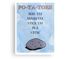 PO-TA-TOES Metal Print