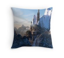 Fantasy Castle in the Mountains Throw Pillow
