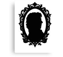 Sherlock Holmes Silhouette  Canvas Print