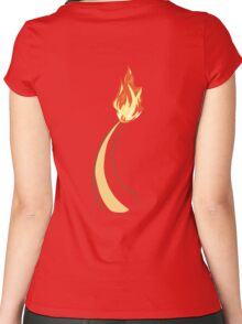 Charmander Tail Women's Fitted Scoop T-Shirt