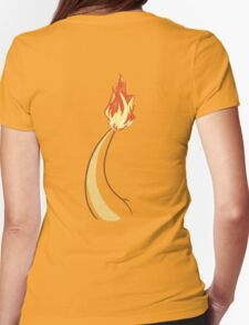 Charmander Tail Womens Fitted T-Shirt